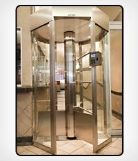 Octagonal Glass Turnstile
